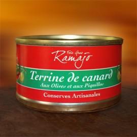 Terrine de canard aux olives et péquillos 120g
