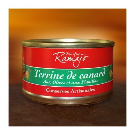 Terrine de canard aux olives et péquillos 120 g