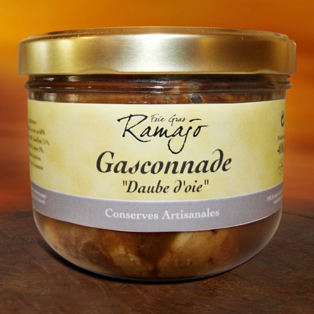 Gasconnade daube d'oie, 1 part 400 g