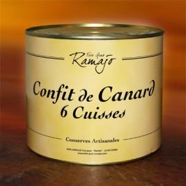 Confit de canard du Gers 6 cuisses 1900g