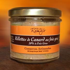 Rillettes de canard au foie gras 100 g