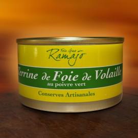 Terrine de foie de volaille au poivre vert 120 g