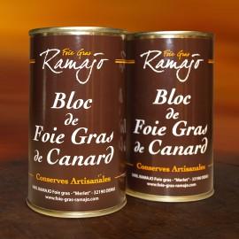 Bloc de foie gras de canard du Gers : Lot 2 boites 200 g
