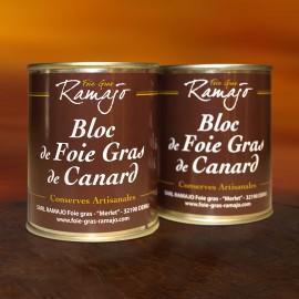 Bloc de foie gras de canard : Lot 2 boites 140 g