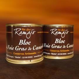 Bloc de foie gras de canard du Gers  : Lot 2 boites 95 g
