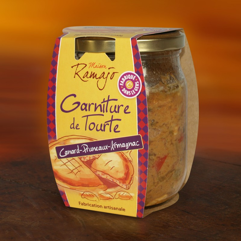 Garnitures de Tourtes Canard Pruneaux Armagnac