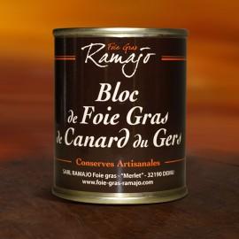 Bloc de foie gras de canard du Gers 140 g