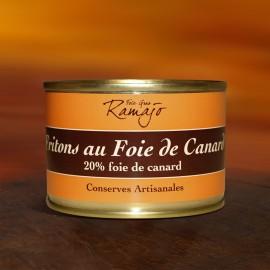 Fritons au foie de canard, 20% de foie gras de canard