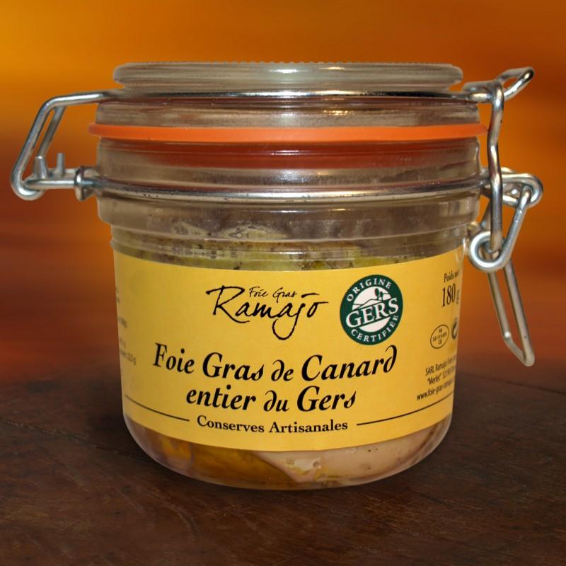 Foie gras de canard entier du Gers 180 g