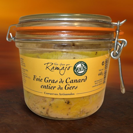 Foie gras de canard entier du Gers  440 g