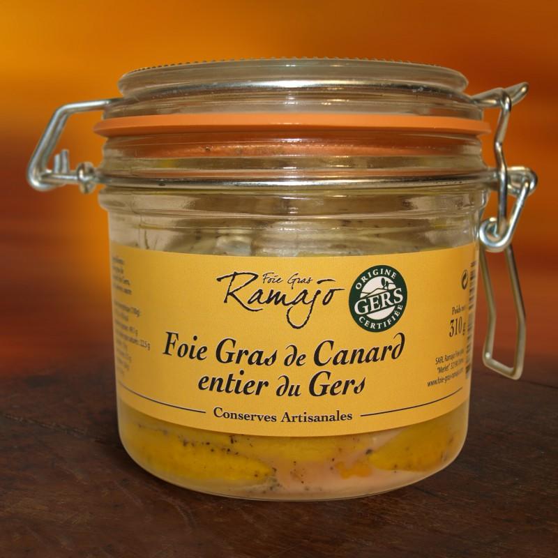 Foie gras de canard entier  du Gers 310 g