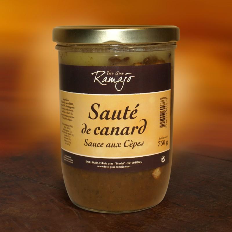 Sauté de canard sauce aux Cèpes