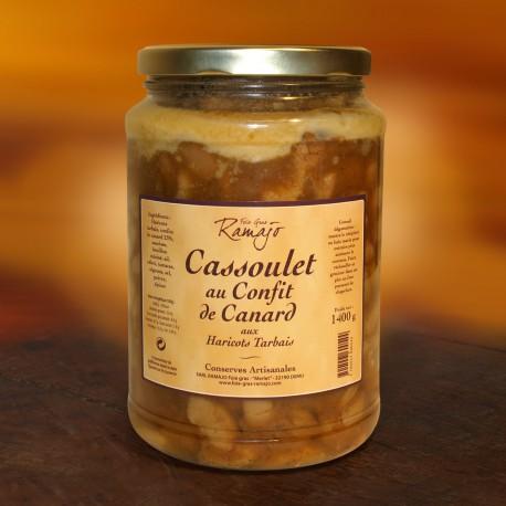 Cassoulet au confit de canard aux haricots tarbais 1400 g