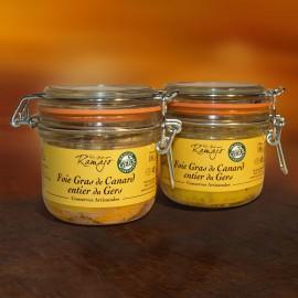 Foie gras de canard entier  lot de 2 x 180 g