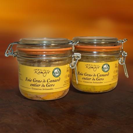 Foie gras de canard entier du Gers  lot de 2 x 180 g