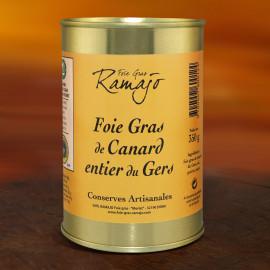 Foie gras de canard entier 350g (Boite fer)