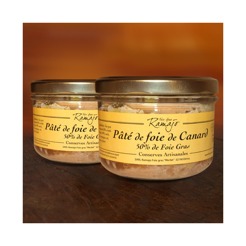 Pâté de foie de canard, 50% de foie gras lot de 2 verrines