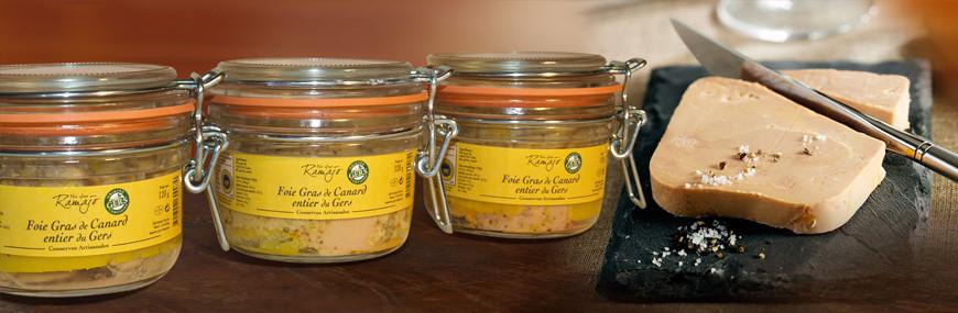 Foie Gras de Canard entier en Conserve du Gers