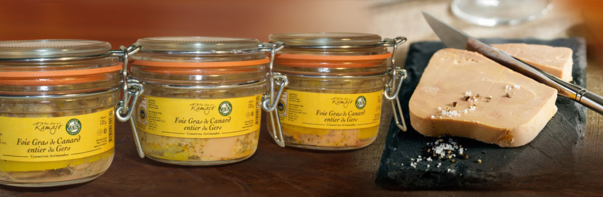 Foies gras de canard entier en conserve Maison Ramajo