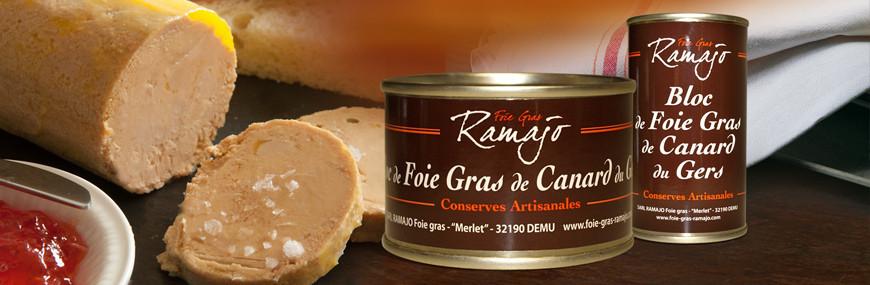 Bloc de foie gras de canard Du Gers