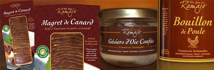 Confit de Canard, d oie et de porc, Confits du Gers