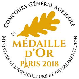 Médaille d'Or Paris 2018