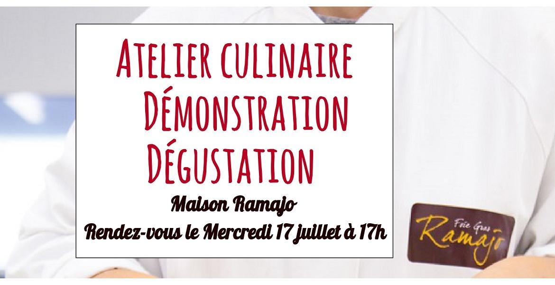 Atelier culinaire le Mercredi 17 Juillet 2019